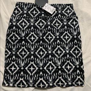 Mini skirt abstract print